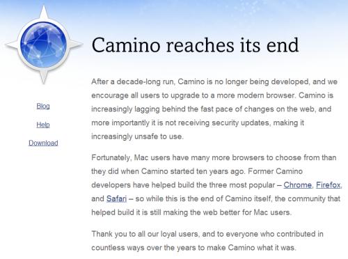 El navegador Camino para Mac fue discontinuado