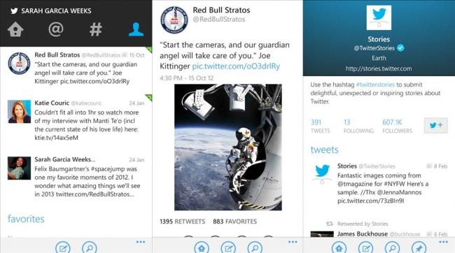 Clientes de Twitter para Windows Phone