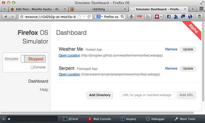 Mozilla lanzó Firefox OS Simulator 3.0