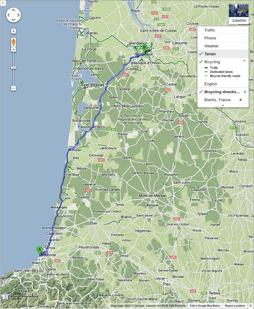 Google Maps expande las indicaciones para ciclistas en Europa