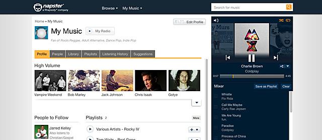 Napster vuelve como un servicio de pago