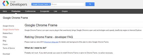 Google retirará Chrome Frame para Internet Explorer