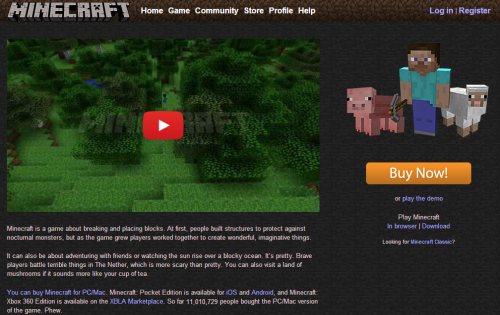 Minecraft supera los 11 millones de ventas en Windows y Mac