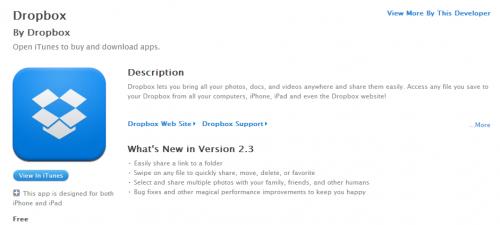 """Dropbox para iOS añade controles """"swipe"""" y nuevas opciones para compartir fotos"""