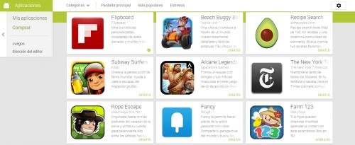 La versión web de Google Play debuta un nuevo diseño