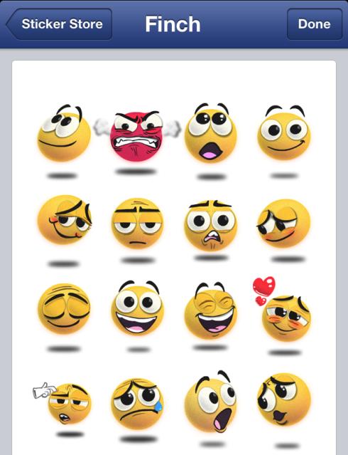 Los stickers de Facebook ya están en la versión web
