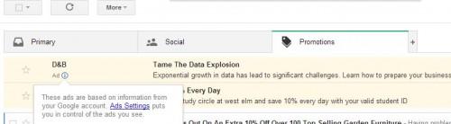 Gmail introduce correos publicitarios en su nueva interfaz web