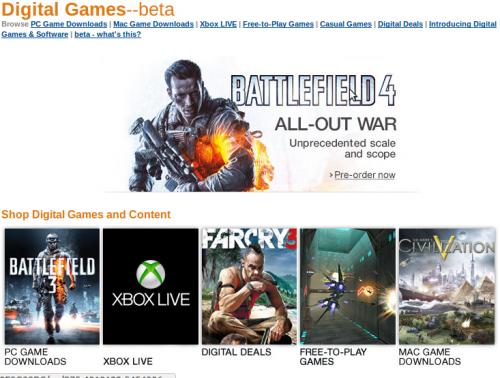 Amazon Reino Unido ahora vende videojuegos y software