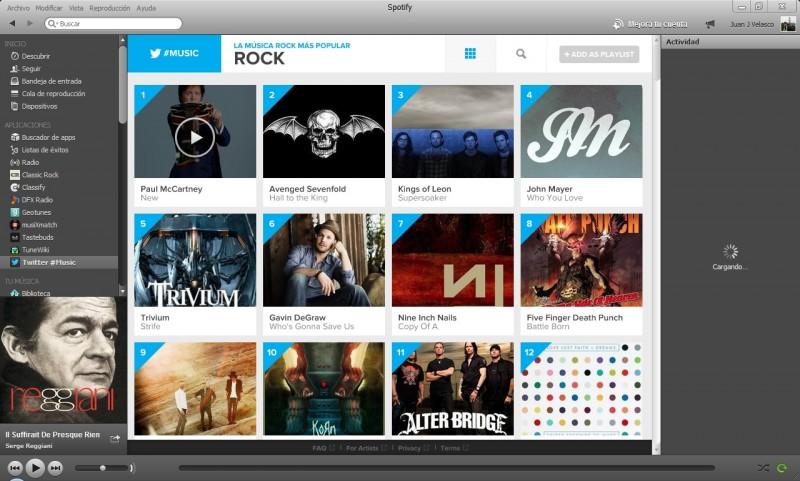 Twitter Music ya tiene aplicación para Spotify