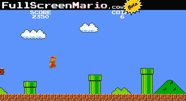 Full Screen Mario no es legal