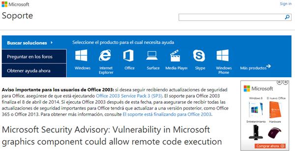 Microsoft actualiza Office para evitar ataques informáticos