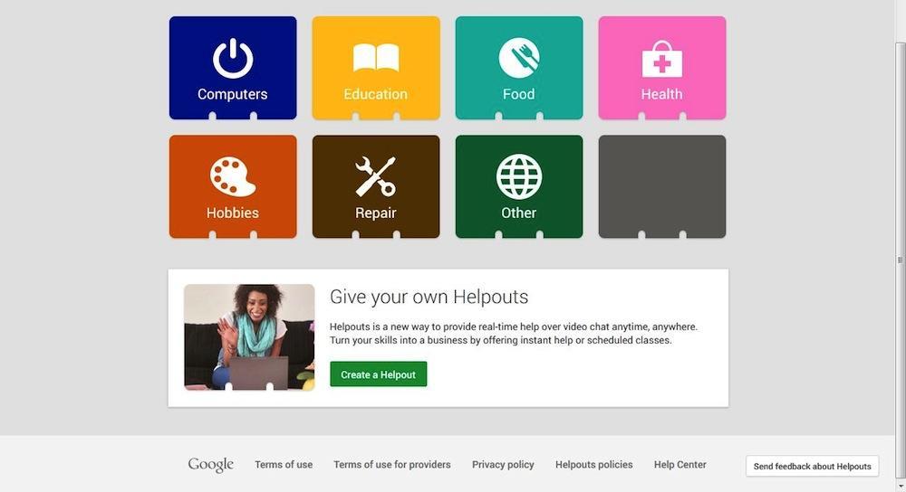 Helpouts, el servicio de videochats de ayuda de Google