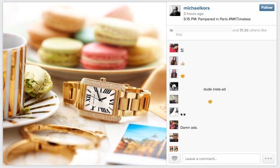 Michael Kors, responsable del primer anuncio en Instagram