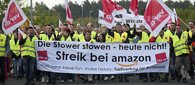 Huelga de los empleados de Amazon en Alemania