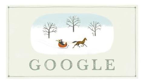 Google felicita la Navidad con un doodle sencillo