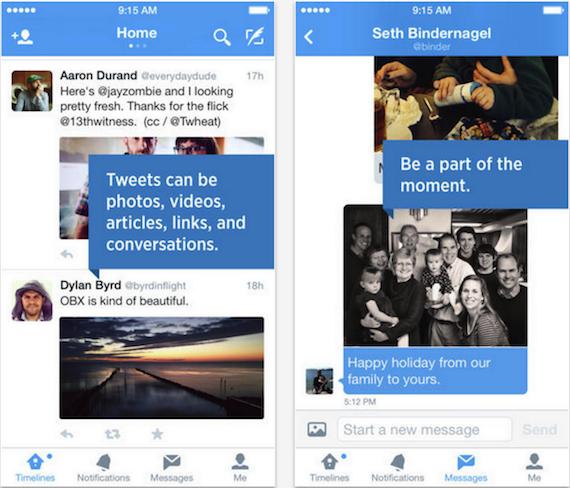 Twitter para iOS permite enviar imágenes por mensaje directo