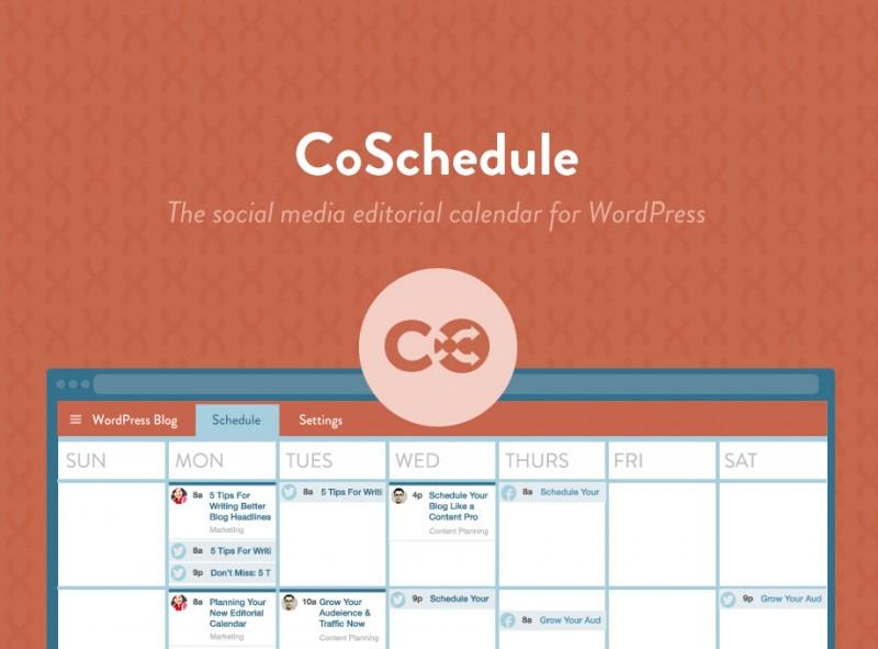 CoSchedule, integra WordPress y redes sociales