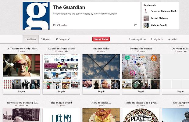 Pinterest y el periodismo: cada vez más cerca