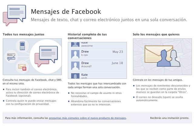 Desaparece el servicio de correo electrónico de Facebook