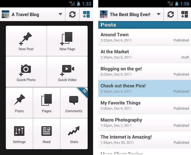Nuevo diseño para las aplicaciones móviles de WordPress