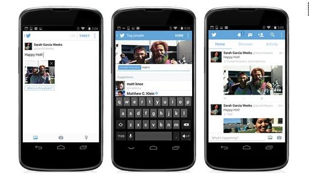 Twitter permitirá etiquetar a usuarios en las fotos