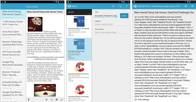 WordPress para Android mejora para ofrecer velocidad