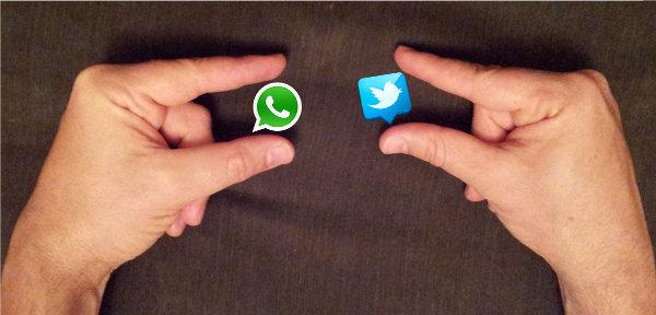 Twitter empieza a probar la integración con WhatsApp