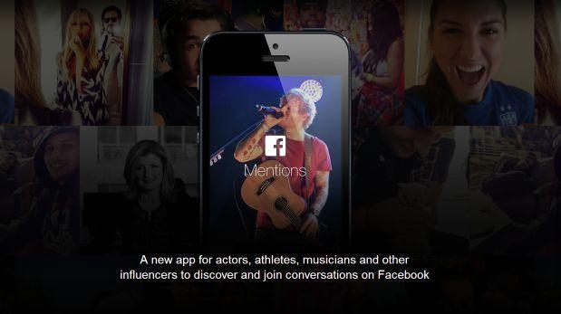 Mentions, la nueva app de Facebook sólo para celebrities