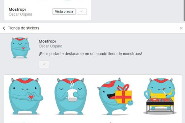 Facebook prueba el uso de pegatinas en los comentarios