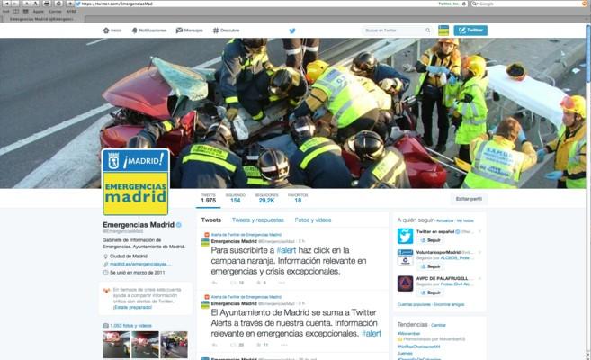Madrid, primer municipio español en sumarse a Twitter Alerts