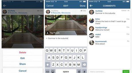 Instagram permite editar textos