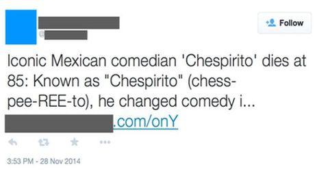 Toman ventaja en Twitter ante muerte de Chespirito